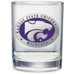 Kansas State University Double Old Fashioned Glass - Enameled