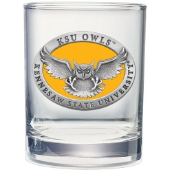Kennesaw State University Double Old Fashioned Glass - Enameled