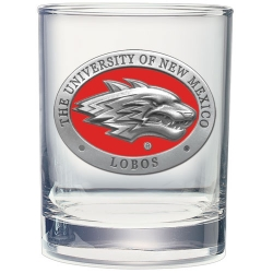 University of New Mexico Double Old Fashioned Glass - Enameled