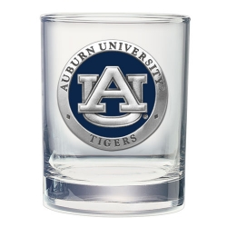 Auburn University Double Old Fashioned Glass - Enameled