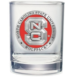 NC State University Double Old Fashioned Glass - Enameled