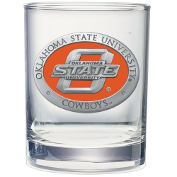Oklahoma State University Double Old Fashioned Glass - Enameled
