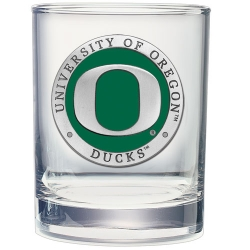 University of Oregon Double Old Fashioned Glass - Enameled