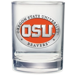 Oregon State University Double Old Fashioned Glass - Enameled