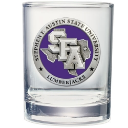 Stephen F. Austin University Double Old Fashioned Glass - Enameled