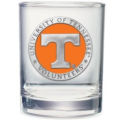 University of Tennessee Double Old Fashioned Glass - Enameled