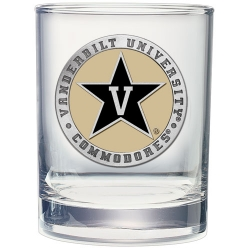 Vanderbilt University Double Old Fashioned Glass - Enameled