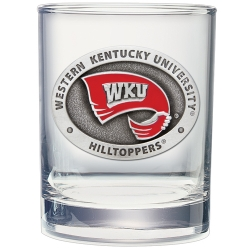 Western Kentucky University Double Old Fashioned Glass - Enameled