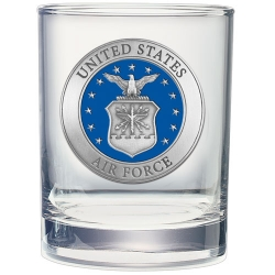 Air Force Double Old Fashioned Glass - Enameled