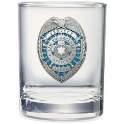 Law Enforcement Double Old Fashioned Glass - Enameled