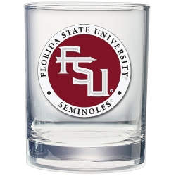 Florida State University Double Old Fashioned Glass - Enameled