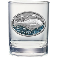 Halibut Double Old Fashioned Glass  - Enameled