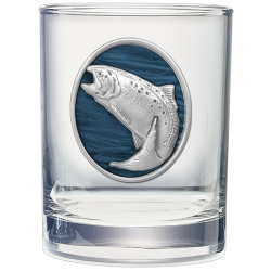 Trout Double Old Fashioned Glass  - Enameled