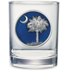 South Carolina Palmetto Double Old Fashioned Glass - Enameled