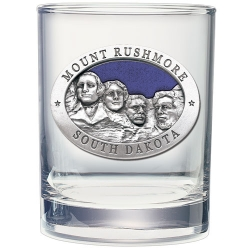 Mount Rushmore Double Old Fashioned Glass - Enameled