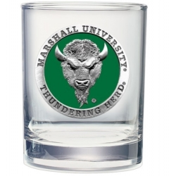 Marshall University Double Old Fashioned Glass - Enameled