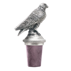 Falcon Pewter Bottle Stopper