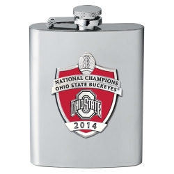2014 BCS National Champions Ohio State Buckeyes Flask - Enameled