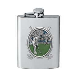 "Golf ""Putter"" Flask - Enameled"