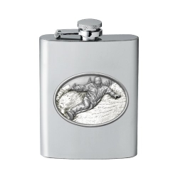 Snowboarder Flask - Enameled