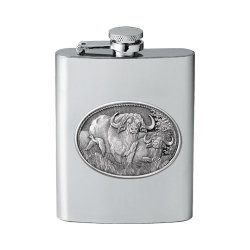 Cape Buffalo Flask