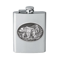 Grizzly Bear Flask