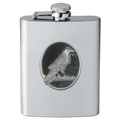 Raven Flask - Enameled