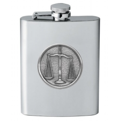 Law - Scales of Justice Flask