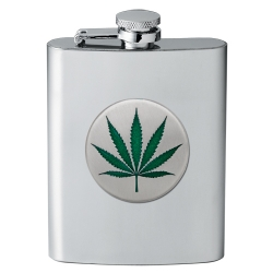 Marijuana Flask - Enameled