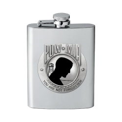 POW MIA Flask - Enameled