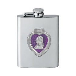 Purple Heart Flask - Enameled