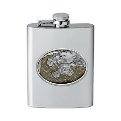 Ruffed Grouse Flask - Enameled