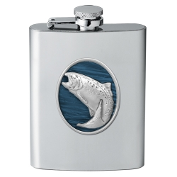 Trout Flask - Enameled