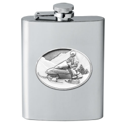 Snowmobile Flask - Enameled