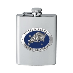 """Naval Academy """"Bill the Goat"""" Flask - Enameled"""