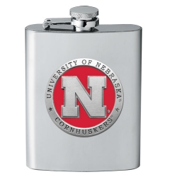University of Nebraska Flask - Enameled
