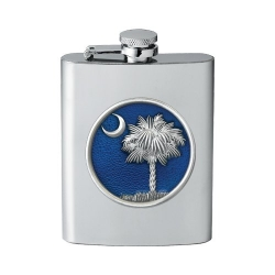 South Carolina Palmetto Flask - Enameled