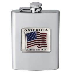 US Flag Flask - Enameled