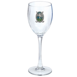 "Golf ""Driver"" Wine Glass - Enameled"