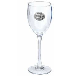 "Georgia Institute of Technology ""GT"" Wine Glass"