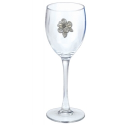 Apple Blossom Wine Glass