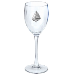 Sail Boat Wine Glass