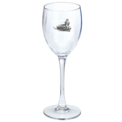 Snowmobile Wine Glass