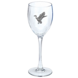 Mallard Duck Wine Glass