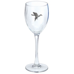 Pintail Duck Wine Glass