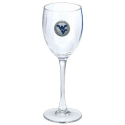 West Virginia University Wine Glass - Enameled