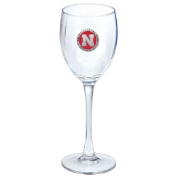 University of Nebraska Wine Glass - Enameled