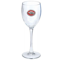 University of New Mexico Wine Glass - Enameled
