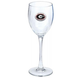 "University of Georgia ""G"" Wine Glass - Enameled"