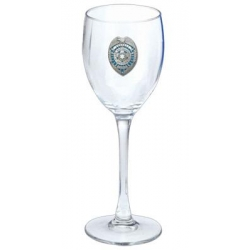 Law Enforcement Wine Glass - Enameled